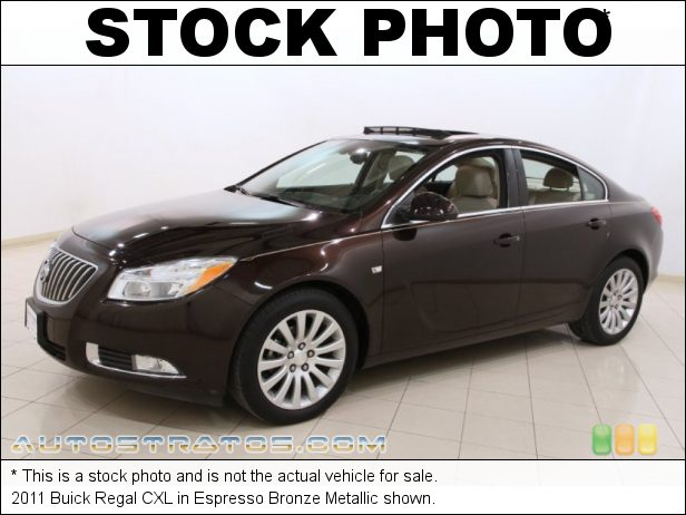 Stock photo for this 2011 Buick Regal CXL 2.4 Liter SIDI DOHC 16-Valve VVT ECOTEC 4 Cylinder 6 Speed DSC Automatic