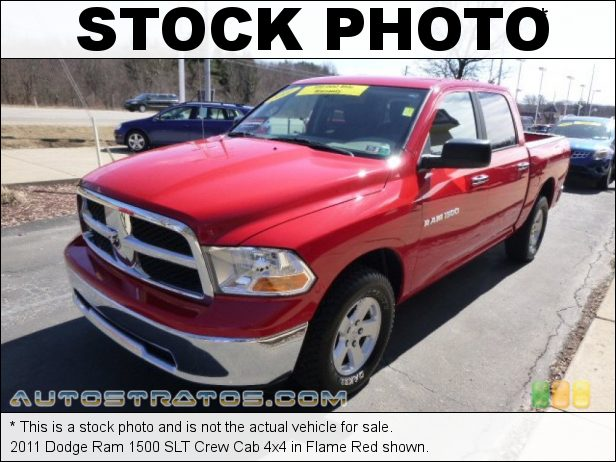 Stock photo for this 2011 Dodge Ram 1500 SLT Crew Cab 4x4 4.7 Liter SOHC 16-Valve Flex-Fuel V8 5 Speed Automatic