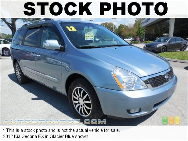 Stock photo for this 2012 Kia Sedona EX 3.5 Liter DOHC 24-Valve V6 6 Speed Sportmatic Automatic