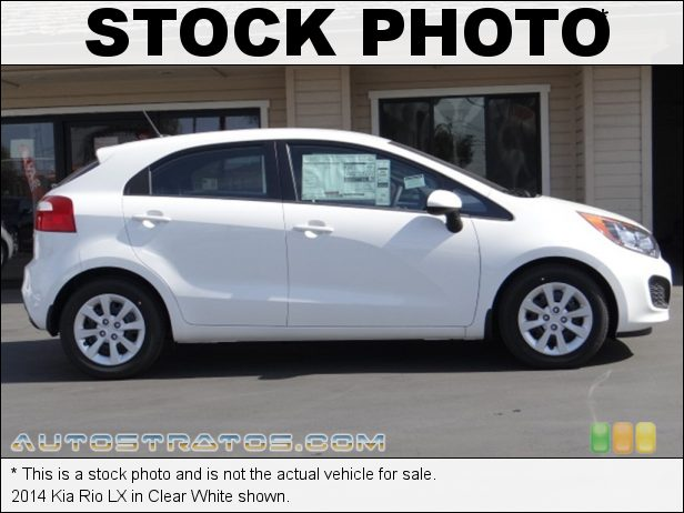 Stock photo for this 2014 Kia Rio LX 1.6 Liter GDI DOHC 16-Valve Dual-CVVT 4 Cylinder 6 Speed Automatic