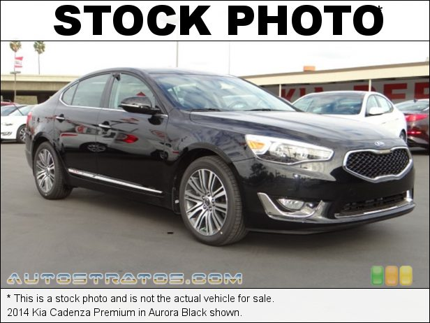 Stock photo for this 2014 Kia Cadenza  3.3 liter GDI DOHC 24-Valve Dual CVVT V6 6 Speed Sportmatic Automatic