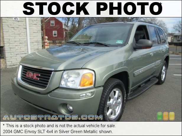 Stock photo for this 2004 GMC Envoy SLT 4x4 4.2 Liter DOHC 24-Valve Inline 6 Cylinder 4 Speed Automatic