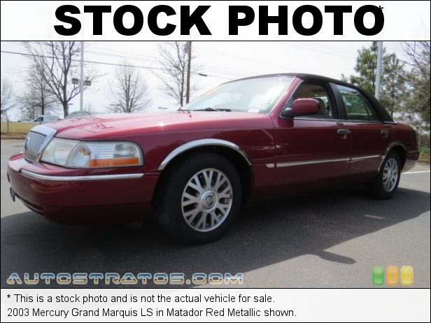 Stock photo for this 2003 Mercury Grand Marquis LS 4.6 Liter SOHC 16-Valve V8 4 Speed Automatic