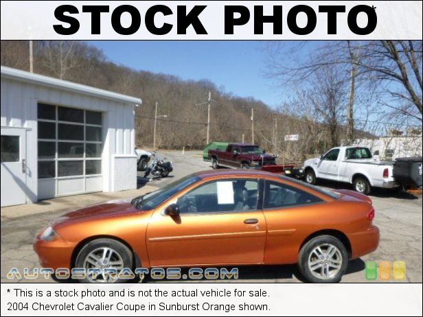 Stock photo for this 2004 Chevrolet Cavalier Coupe 2.2 Liter DOHC 16-Valve 4 Cylinder 4 Speed Automatic