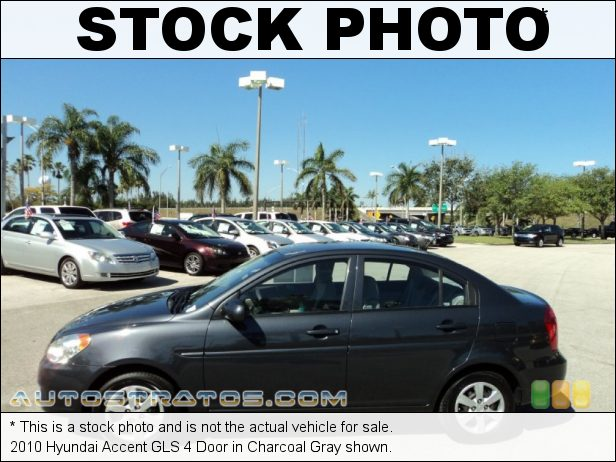 Stock photo for this 2010 Hyundai Accent GLS 4 Door 1.6 Liter DOHC 16-Valve CVVT 4 Cylinder 4 Speed Automatic