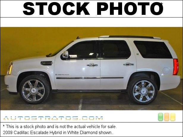 Stock photo for this 2009 Cadillac Escalade Hybrid 6.0 Liter OHV 16-Valve VVT V8 Gasoline/Electric Hybrid 4 Speed Automatic