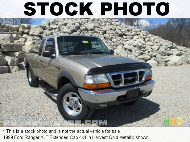 Stock photo for this 1999 Ford Ranger XLT Extended Cab 4x4 4.0 Liter OHV 12-Valve V6 5 Speed Automatic