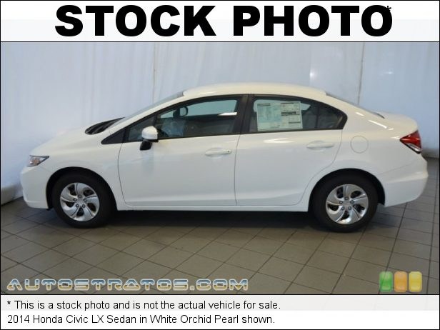 Stock photo for this 2014 Honda Civic LX Sedan 1.8 Liter SOHC 16-Valve i-VTEC 4 Cylinder CVT Automatic