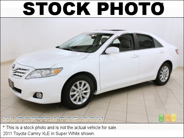 Stock photo for this 2011 Toyota Camry XLE 2.5 Liter DOHC 16-Valve Dual VVT-i 4 Cylinder 6 Speed ECT-i Automatic