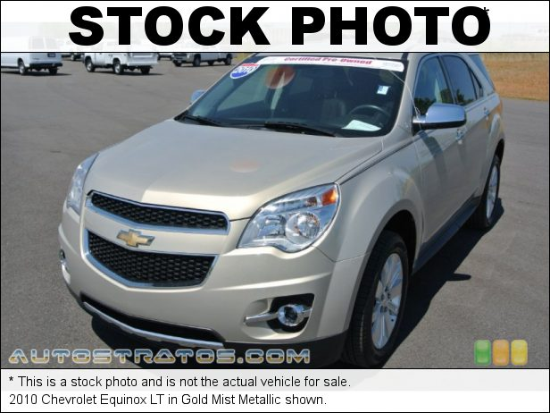 Stock photo for this 2010 Chevrolet Equinox LT 2.4 Liter DOHC 16-Valve VVT 4 Cylinder 6 Speed Automatic