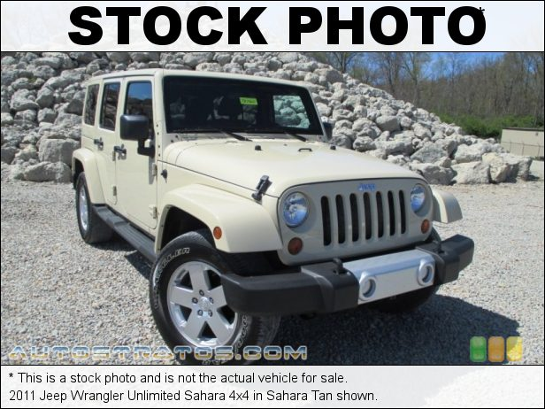 Stock photo for this 2011 Jeep Wrangler Unlimited Sahara 4x4 3.8 Liter OHV 12-Valve V6 4 Speed Automatic