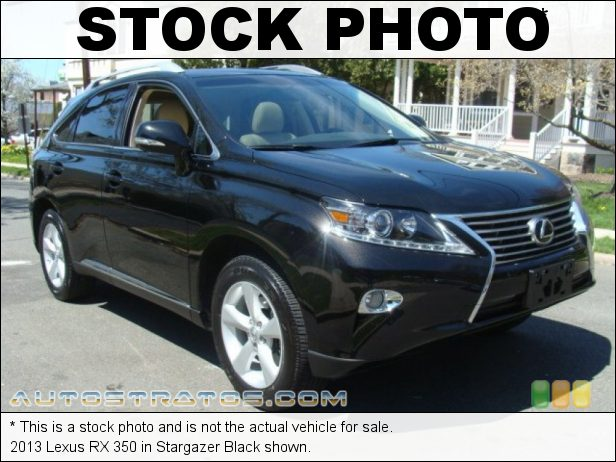 Stock photo for this 2013 Lexus RX 350 3.5 Liter DOHC 24-Valve Dual VVT-i V6 6 Speed ECT-i Automatic