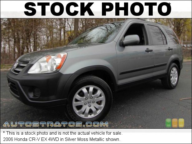 Stock photo for this 2006 Honda CR-V EX 4WD 2.4 Liter DOHC 16-Valve i-VTEC 4 Cylinder 5 Speed Automatic