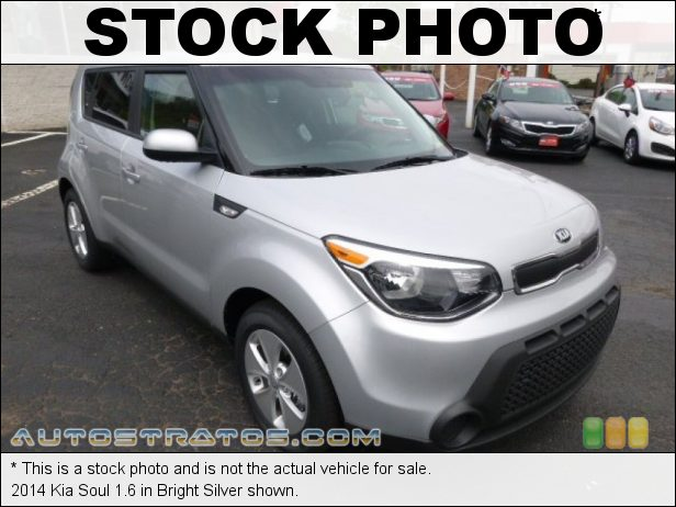 Stock photo for this 2014 Kia Soul 1.6 1.6 Liter GDI DOHC 16-Valve CVVT 4 Cylinder 6 Speed Automatic