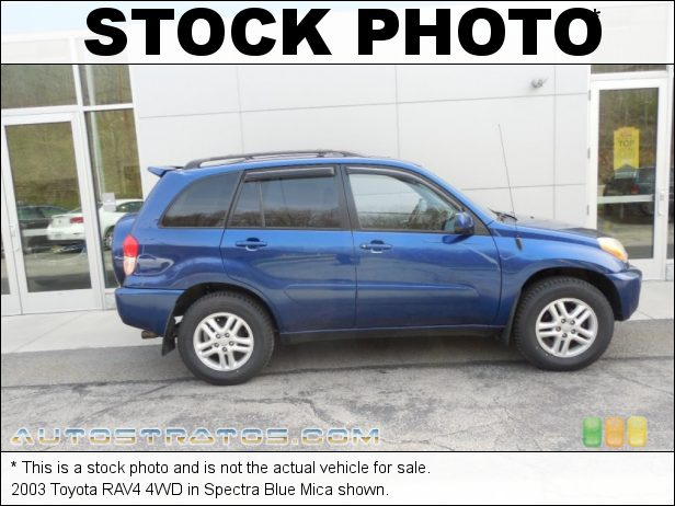 Stock photo for this 2003 Toyota RAV4 4WD 2.0 Liter DOHC 16-Valve VVT-i 4 Cylinder 4 Speed Automatic