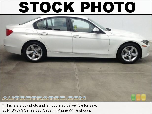 Stock photo for this 2014 BMW 3 Series 328i Sedan 2.0 Liter DI TwinPower Turbocharged DOHC 16-Valve 4 Cylinder 8 Speed Steptronic Automatic