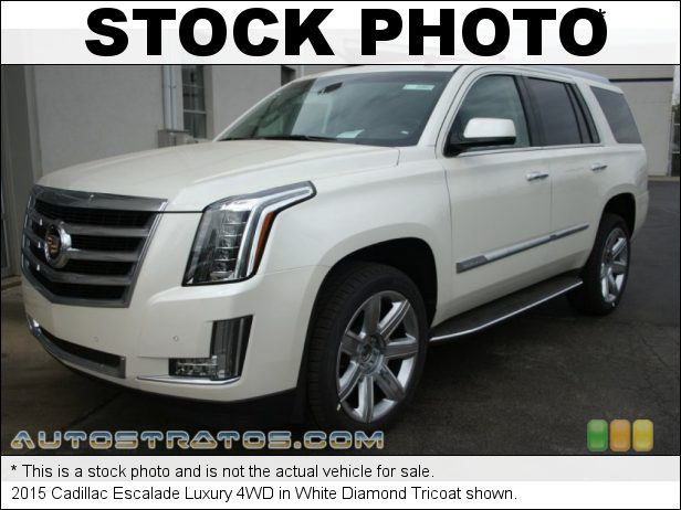 Stock photo for this 2015 Cadillac Escalade Luxury 4WD 6.2 Liter DI OHV 16-Valve VVT V8 6 Speed Automatic