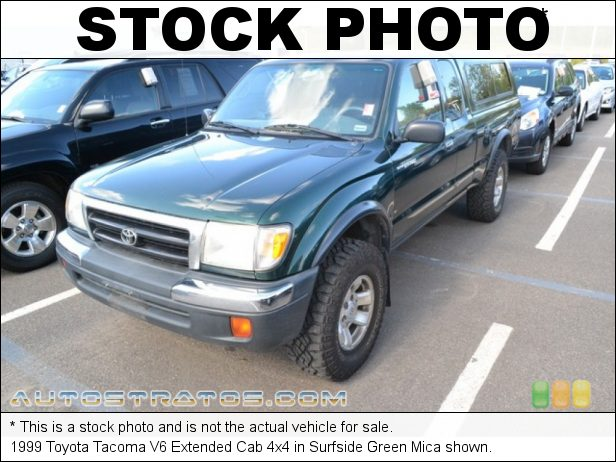 Stock photo for this 1999 Toyota Tacoma Extended Cab 4x4 3.4 Liter DOHC 24-Valve V6 5 Speed Manual