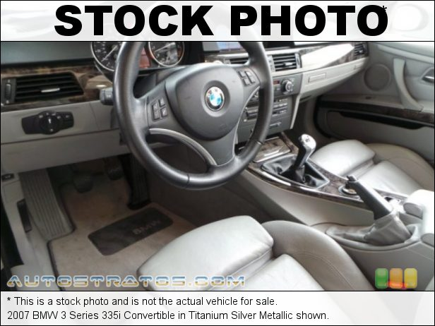 Stock photo for this 2007 BMW 3 Series 335i Convertible 3.0L Twin Turbocharged DOHC 24V VVT Inline 6 Cylinder 6 Speed Steptronic Automatic