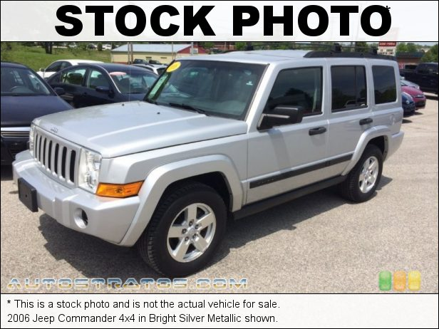 Stock photo for this 2006 Jeep Commander 4x4 3.7 Liter SOHC 12-Valve V6 5 Speed Automatic