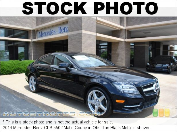 Stock photo for this 2014 Mercedes-Benz CLS 550 4Matic Coupe 4.6 Liter Twin-Turbocharged DOHC 32-Valve VVT V8 7 Speed Automatic