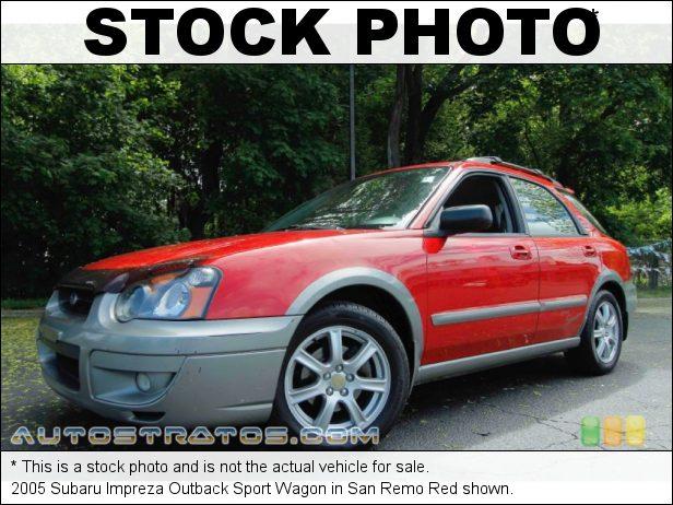 Stock photo for this 2005 Subaru Impreza Outback Sport Wagon 2.5 Liter SOHC 16-Valve Flat 4 Cylinder 5 Speed Manual