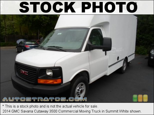 Stock photo for this 2014 GMC Savana Cutaway 3500 Commercial Moving Truck 4.8 Liter OHV 16-Valve Vortec V8 6 Speed Automatic