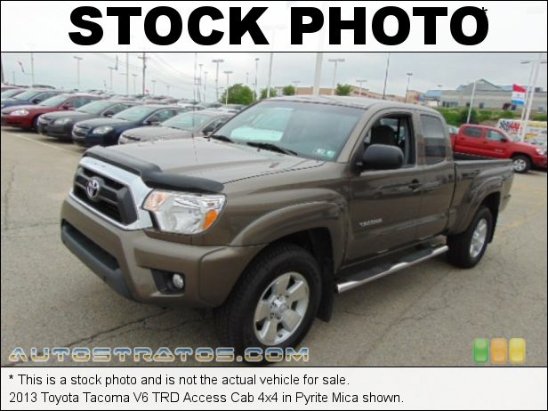 Stock photo for this 2013 Toyota Tacoma V6 Access Cab 4x4 4.0 Liter DOHC 24-Valve VVT-i V6 5 Speed ECT-i Automatic