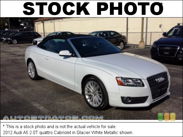 Stock photo for this 2012 Audi A5 2.0T quattro Cabriolet 2.0 Liter FSI Turbocharged DOHC 16-Valve VVT 4 Cylinder 8 Speed Tiptronic Automatic