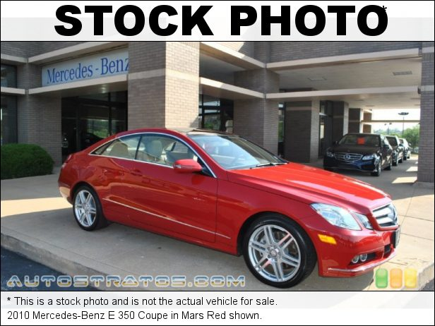 Stock photo for this 2010 Mercedes-Benz E 350 Coupe 3.5 Liter DOHC 24-Valve VVT V6 7 Speed Automatic