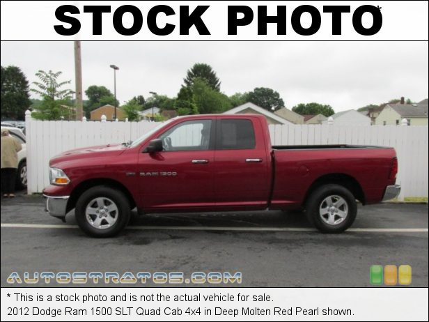 Stock photo for this 2012 Dodge Ram 1500 SLT Quad Cab 4x4 5.7 Liter HEMI OHV 16-Valve VVT MDS V8 6 Speed Automatic