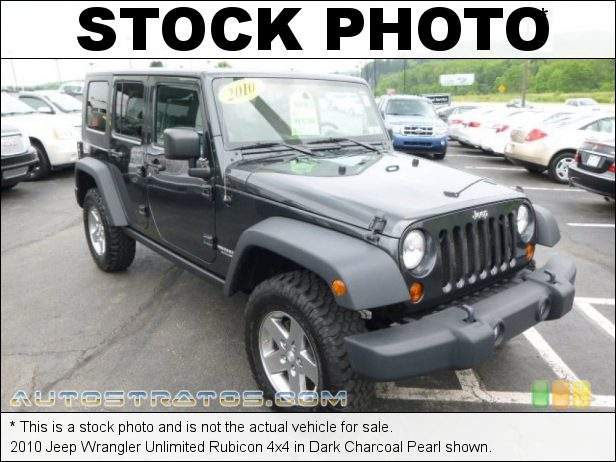Stock photo for this 2010 Jeep Wrangler Unlimited Rubicon 4x4 3.8 Liter OHV 12-Valve V6 4 Speed Automatic