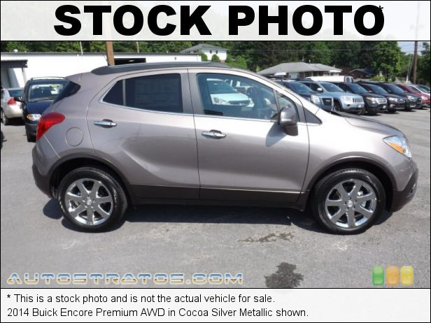 Stock photo for this 2014 Buick Encore Premium AWD 1.4 Liter Turbocharged DOHC 16-Valve VVT ECOTEC 4 Cylinder 6 Speed Automatic