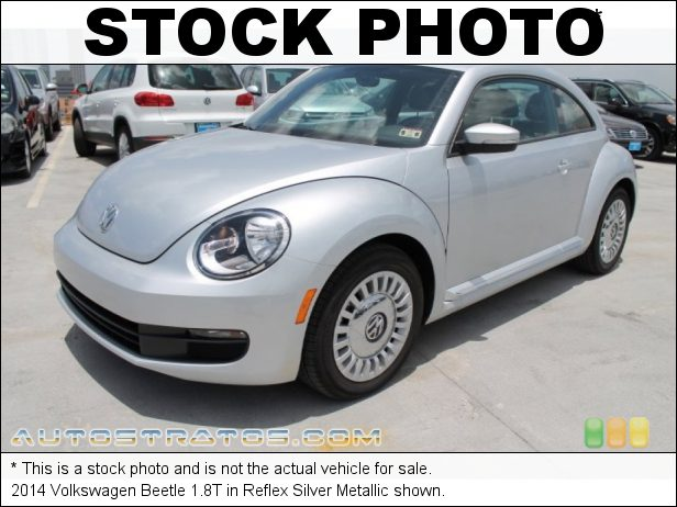 Stock photo for this 2014 Volkswagen Beetle 1.8T 1.8 Liter FSI Turbocharged DOHC 16-Valve VVT 4 Cylinder 6 Speed Tiptronic Automatic