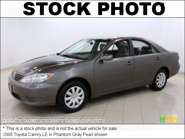 Stock photo for this 2006 Toyota Camry LE 2.4L DOHC 16V VVT-i 4 Cylinder 5 Speed Automatic