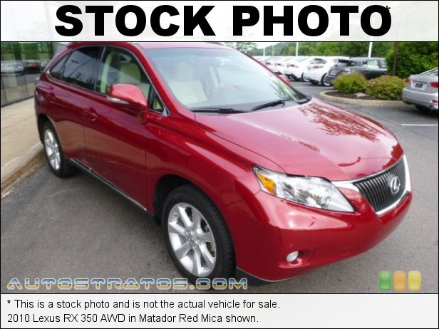 Stock photo for this 2010 Lexus RX 350 AWD 3.5 Liter DOHC 24-Valve VVT-i V6 6 Speed ECT Automatic