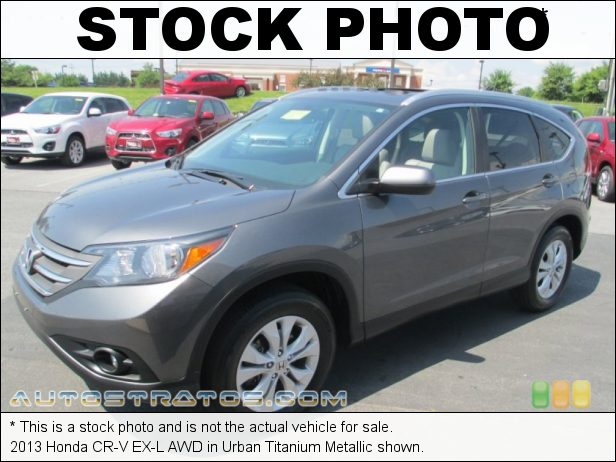 Stock photo for this 2013 Honda CR-V EX-L AWD 2.4 Liter DOHC 16-Valve i-VTEC 4 Cylinder 5 Speed Automatic
