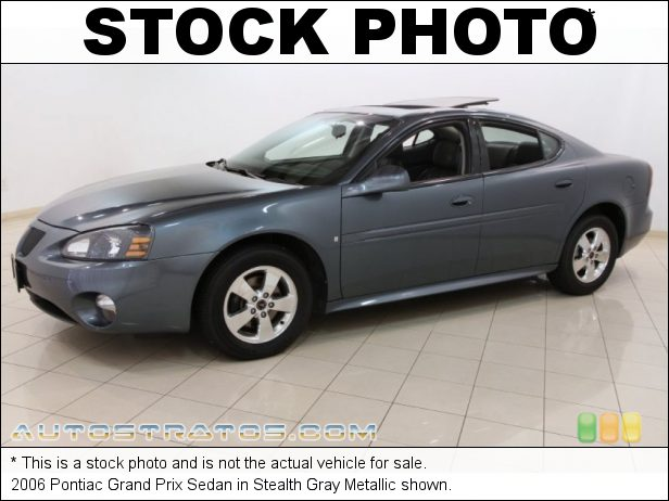 Stock photo for this 2006 Pontiac Grand Prix Sedan 3.8 Liter OHV 12V 3800 Series III V6 4 Speed Automatic