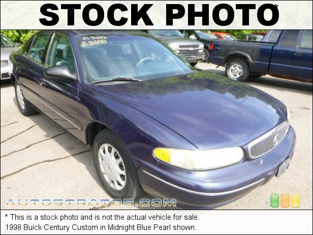 Stock photo for this 1998 Buick Century  3.1 Liter OHV 12-Valve V6 4 Speed Automatic