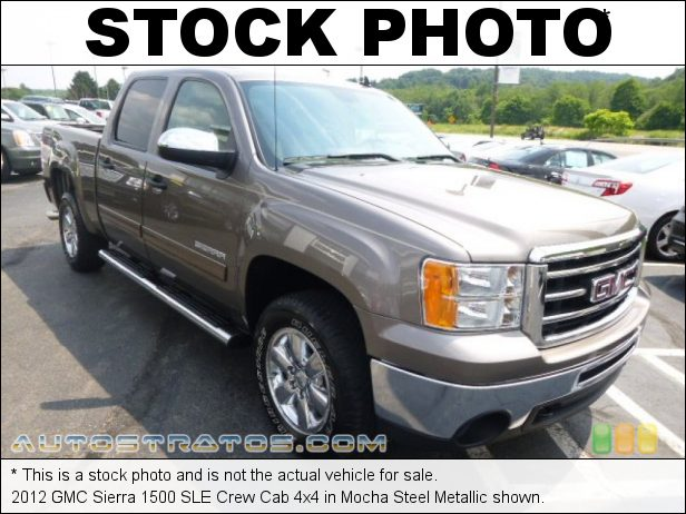 Stock photo for this 2012 GMC Sierra 1500 SLE Crew Cab 4x4 5.3 Liter Flex-Fuel OHV 16-Valve VVT Vortec V8 6 Speed Automatic