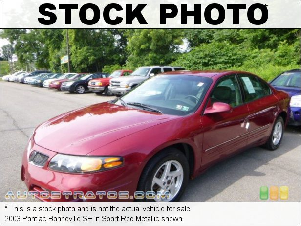 Stock photo for this 1998 Pontiac Bonneville SE 3.8 Liter OHV 12-Valve 3800 Series II V6 4 Speed Automatic