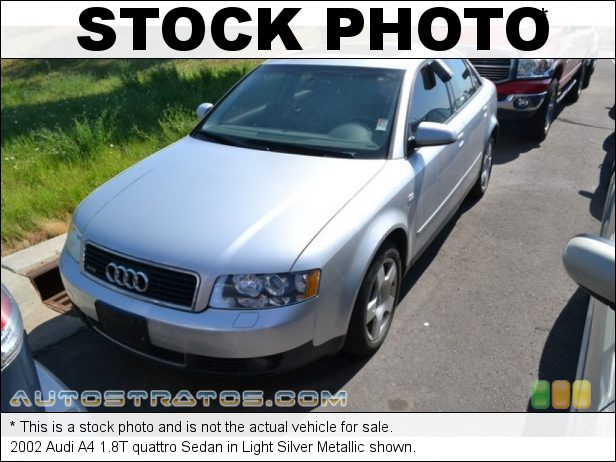 Stock photo for this 2002 Audi A4 1.8T quattro Sedan 1.8L Turbocharged DOHC 20V 4 Cylinder 5 Speed Tiptronic Automatic