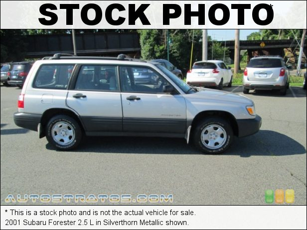 Stock photo for this 2001 Subaru Forester 2.5 L 2.5 Liter SOHC 16-Valve Flat 4 Cylinder 4 Speed Automatic