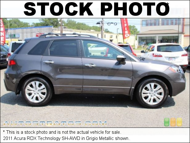 Stock photo for this 2011 Acura RDX Technology SH-AWD 2.3 Liter Turbocharged DOHC 16-Valve i-VTEC 4 Cylinder 5 Speed Sequential SportShift Automatic