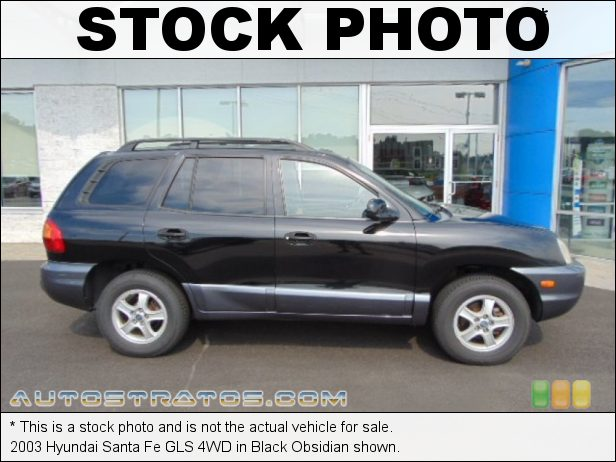 Stock photo for this 2003 Hyundai Santa Fe GLS 4WD 2.7 Liter DOHC 24-Valve V6 4 Speed Automatic