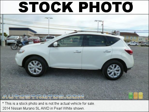 Stock photo for this 2014 Nissan Murano SL AWD 3.5 Liter DOHC 24-Valve CVTCS V6 Xtronic CVT Automatic
