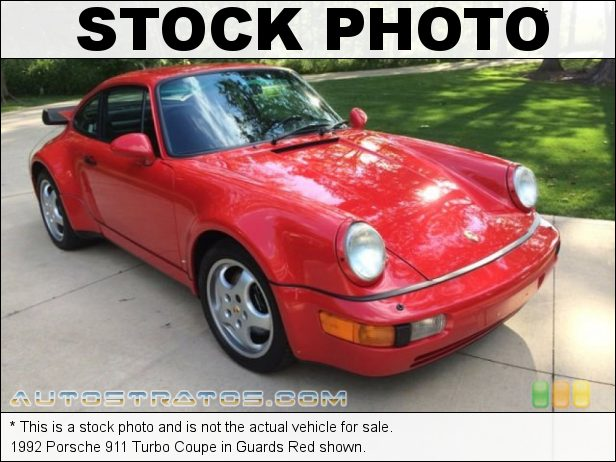 Stock photo for this 1992 Porsche 911 Turbo Coupe 3.3 Liter Turbocharged SOHC 12-Valve Flat 6 Cylinder 5 Speed Manual