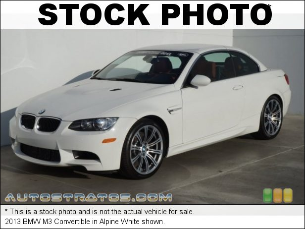 Stock photo for this 2013 BMW M3 Convertible 4.0 Liter M DOHC 32-Valve Double-VANOS VVT V8 7 Speed DKG Double Clutch Automatic