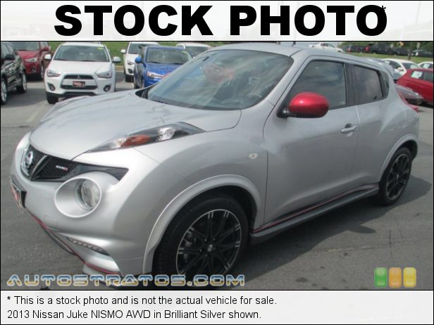 Stock photo for this 2013 Nissan Juke AWD 1.6 Liter DIG Turbocharged DOHC 16-Valve CVTCS 4 Cylinder Xtronic CVT Automatic