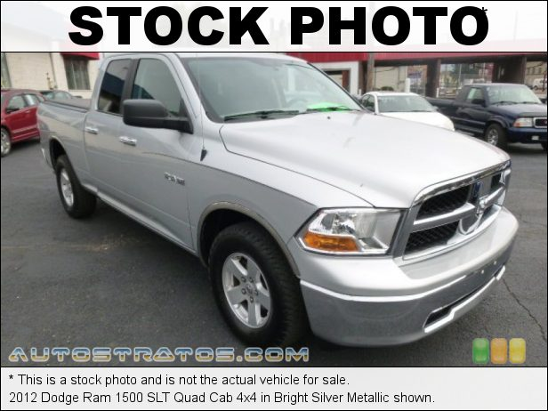 Stock photo for this 2012 Dodge Ram 1500 SLT Quad Cab 4x4 4.7 Liter SOHC 16-Valve Flex-Fuel V8 6 Speed Automatic